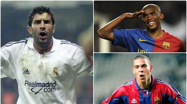 Real Madrid dan Barcelona akan kembali bertemu pekan ini di Liga Spanyol, kedua klub dikenal sebagai rival abadi selama bertahun-tahun. Namun beberapa pemain tercatat pernah membela kedua klub itu. Berikut 5 pemain yang pernah berkostum Madrid dan Barcelona. (kolase foto AFP)