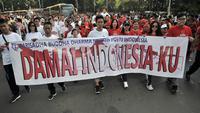 Sambut Pemilu 2019, Umat Berbagai Agama Gerak Jalan Bersama. (Merdeka.com/Ronald)