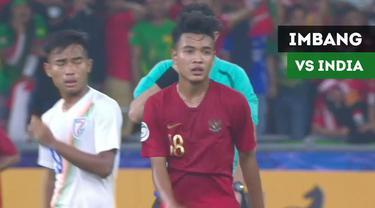 Berita video highlight Timnas Indonesia U-16 vs India U-16 pada laga terakhir Grup C Piala AFC U-16 2018 yang berakhir dengan skor 0-0, Kamis (27/9/2018). Hasil imbang tersebut membawa Timnas Indonesia U-16 menjadi juara grup.