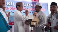 Calon Wakil Presiden Sandiaga Uno saat bertemu ulama di Sumatera. (Merdeka.com)