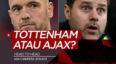 Berita video statistik head to head jelang laga leg pertama semifinal Liga Champions 2018-2019, Tottenham Hotspur vs Ajax, di London, Selasa (30/4/2019).