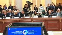 Wali Kota Surabaya Tri Rismaharini didapuk menjadi perwakilan yang pertama dari Indonesia sebagai salah satu pembicara dalam St. Petersburg International Educational Forum ke-10 di Rusia. (Liputan6.com/ Dian Kurniawan).