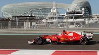 Mobil baru Ferrari untuk F1 2018 diyakini memiliki jarak sumbu roda yang lebih panjang dari edisi SF70H  2017. (AFP/Karim Sahib)