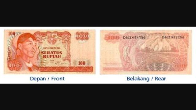 2. Rp 100/Tahun Emisi 1968 - Sudirman (warna merah). (Foto: BI)