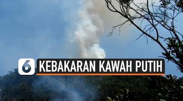 Pemadaman kebakaran di Lereng Gunung Malabar Kawah Putih Bandung Barat memerlukan helikopter dari BNPB untuk mempercepat operasi pemadaman kebakaran hutan.