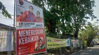 Foto Tri Rismaharini (Risma) dalam alat peraga kampanye (APK) (Foto: Liputan6.com/Dian Kurniawan)