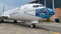 Desain masker baru pesawat Garuda Indonesia pada armada B737-800 NG (dok: GIA)