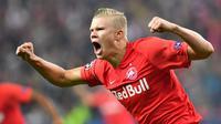 2. Erling Braut Haaland (Red Bull Salzburg) - 8 gol.(AFP/Joe Klamar)