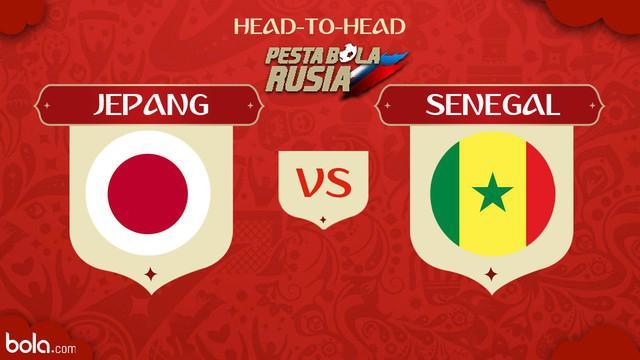 Berikut head to head pertandingan perebutan pemuncak klasemen antara Jepang vs Senegal.