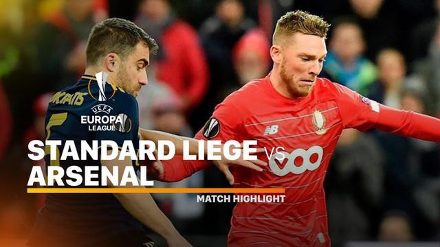 Berita video highlights Europa League antara Standard Liege vs Arsenal yang berakhir dengan skor 2-2.