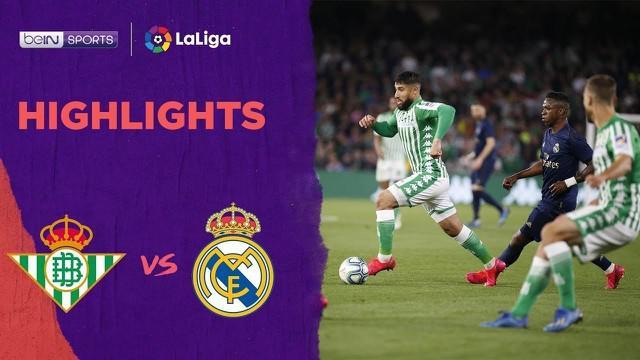 Berita video highlights La Liga 2019-2020, Real Betis vs Real Madrid yang berakhir dengan skor 2-1 di Estadio Benito Villamarin, Minggu (8/3/2020).