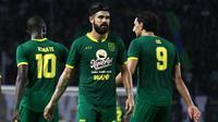 3 pemain asing Persebaya Surabaya, Makan Konate, Aryn Williams, dan Mahmoud Eid. (Bola.com/Aditya Wany)