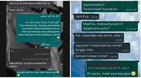 Chat Salah Balas Pesan. (Sumber: Twitter/ @collegemenfess dan Twitter/ @rebahansambat)