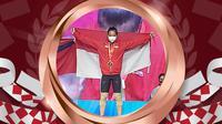 Windy Cantika Aisyahsabet medali perunggu Olimpiade Tokyo 2020. (Bola.com)