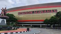 Stadion Manahan Solo bersiap menyambut Piala Menpora 2021. (Bola.com/Vincentius Atmaja)