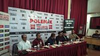 Diskusi Polemik yang membahas soal WNI eks ISIS di bilangan Jakarta Pusat, Sabtu (7/3/2020). (Liputan6.com/Putu Merta Surya Putra)