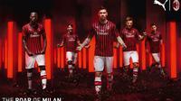 Jersey AC Milan musim 2019-2020. (Bola.com/Dok. AC Milan)