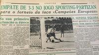 Koran mengabarkan pertandingan pertama Piala Champions. (Dok UEFA)