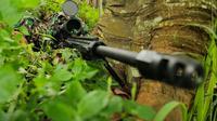 Sniper TNI berlatih menembak di Mako Kopassus (Liputan6.com/Mochamad Khadafi)