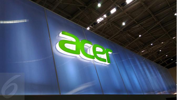 Papan Nama Booth Acer di Computex 2017. Liputan6.com/Mochamad Wahyu Hidayat