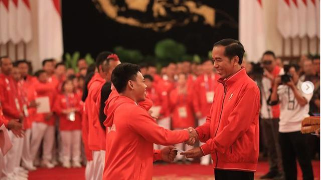 Ekspresi Ceria Para Atlet Indonesia Terima Bonus Asian Games 2018