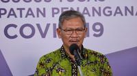Juru Bicara Pemerintah untuk Penanganan COVID-19 Achmad Yurianto saat konferensi pers Corona di Graha BNPB, Jakarta, Rabu (24/6/2020). (Dok Badan Nasional Penanggulangan Bencana/BNPB)