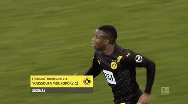 Berita video 5 gol terbaik pekan ke-20 Bundesliga 2020/2021, salah satunya torehan dari wonderkid Borussia Dortmund, Youssoufa Moukoko.