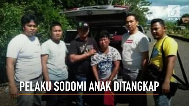 Edi Aswan, predator anak di Kotabaru, Kalimantan Selatan berhasil ditangkap.