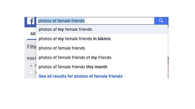 Hasil pencarian di Facebook (Foto: Mashable)