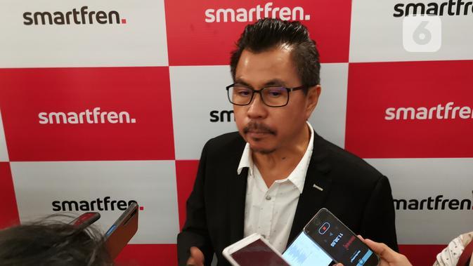 Deputy Chief Executive Officer Smartfren, Djoko Tata Ibrahim. (Liputan6.com/ Agustinus Mario Damar)