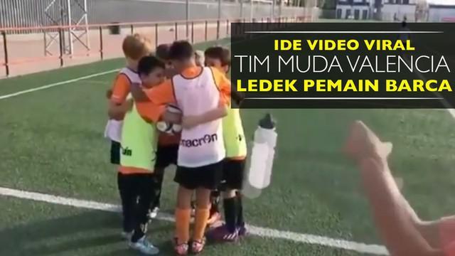 Video ide tim muda Valencia meledek pemain Barcelona, Neymar dan Luis Suarez, yang menjadi viral.