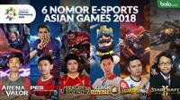 6 nomor e-sports Asian Games 2018. (Bola.com/Dody Iryawan)