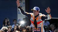 Pembalap Repsol Honda, Marc Marquez. (AP Photo/Miguel Morenatti)