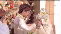 Momen Akad Nikah Rizky Billar dan Lesty Kejora. (Sumber: Vidio.com)