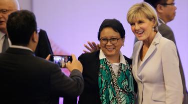 Akrabnya Menlu Retno Bersama Julie Bishop saat Hadiri Pertemuan Menlu se-Asean