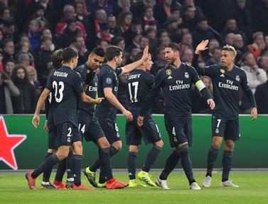 Teknologi VAR Buat Real Madrid Raih Poin Penuh di Kandang Ajax