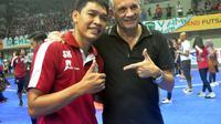 Calon pelatih timnas futsal, Victor Hermans Jacob turut menyaksikan partai final Pro Futsal League, Minggu (5/6/2016).