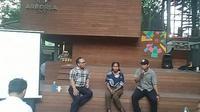 Diskusi interaktif dengan tema 'Pemuda Milenial Penjaga Hutan di Timur Indonesia' di kantor KLHK di Jakarta. (Liputan6.com/Henry)