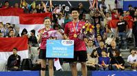 Ganda campuran Indonesia, Praveen Jordan/Debby Susanto, menjuarai Korea Terbuka Super Series 2017 setelah mengalahkan ganda China, Wang Yilyu/Huang Dongping, 21-17, 21-18, Minggu (17/9/2017). (dok. PBSI)