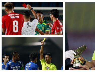 FOTO: Berikan 4 Kartu Merah, Agus Fauzan Arifin Jadi Wasit Terbaik Piala Menpora 2021