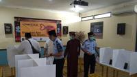 Lapas Bekasi sediakan Bilik video call untuk warga binaan bersilaturahmi Lebaran. (Liputan6.com/Bam Sinulingga)