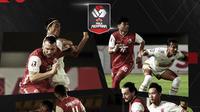 Persija Jakarta vs PSM Makassar pada semifinal Piala Menpora 2021 leg kedua. (Bola.com/Dody Iryawan)