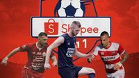 Liga 1 - Marko Simic, Serif Hasic, Aleksandar Rakic (Bola.com/Adreanus Titus)