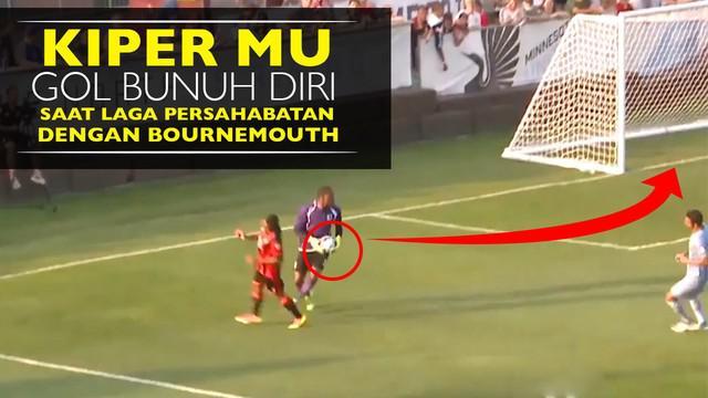 Video kesalahan yang dilakukan Sammy Ndjock kiper dari Minnesota United, lempar bola ke gawang sendiri saat laga persahabatan vs Bournemouth.