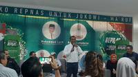 Relawan Pengusaha Muda Nasional (Repnas) menyelenggarakan acara Syukuran Kemenangan Jokowi-Ma'ruf. (Liputan6.com/ Yopi Makdori)