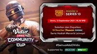 Link Live Streaming Vidio Community Cup Season 13 PUBGM Series 13 Malam Ini. (Sumber : dok. vidio.com)