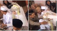 Aksi Kocak Pasangan Pengantin. (Sumber: TikTok/ @nandadwiar)
