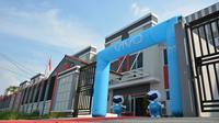 Komplek basis produksi smartphone vivo di Cikupa, Tangerang, Banten.