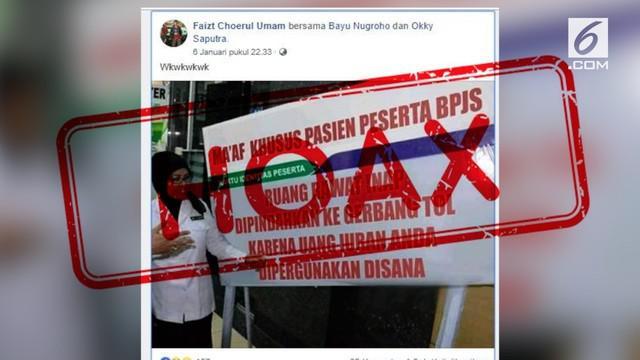 Beredar kabar pasien BPJS Kesehatan akan dirawat di gerbang tol.