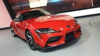Toyota GR Supra yang hadir di Giias 2019 harganya tembus Rp2 miliar. (Arief A/Liputan6.com)